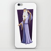dumbledore iPhone & iPod Skins featuring Dumbledore by Zeynep Aktaş