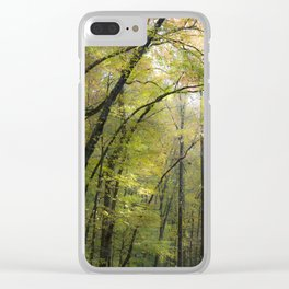 Trees in October Clear iPhone Case
