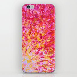 ROMANTIC DAYS - Lovely Sweet Romance, Valentine's Day Sweetheart Pink Red Abstract Acrylic Painting iPhone Skin