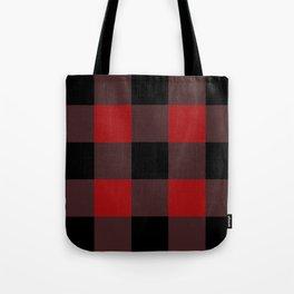 Red Buffalo Plaid Tote Bag