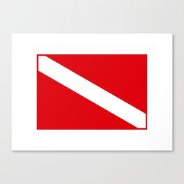 Diving flag Canvas Print