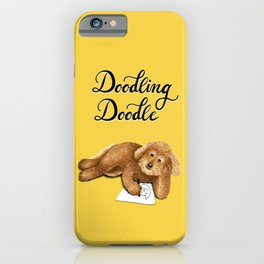 Doodling Doodle (Yellow) iPhone Case