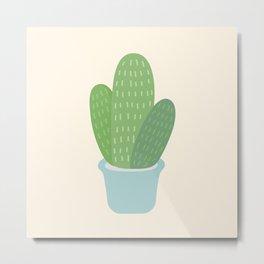 Cactus Print Metal Print