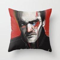 tarantino Throw Pillows featuring Quentin Tarantino by Zaneta Antosik