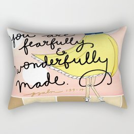 Fearfully and Wonderfully Made Rectangular Pillow