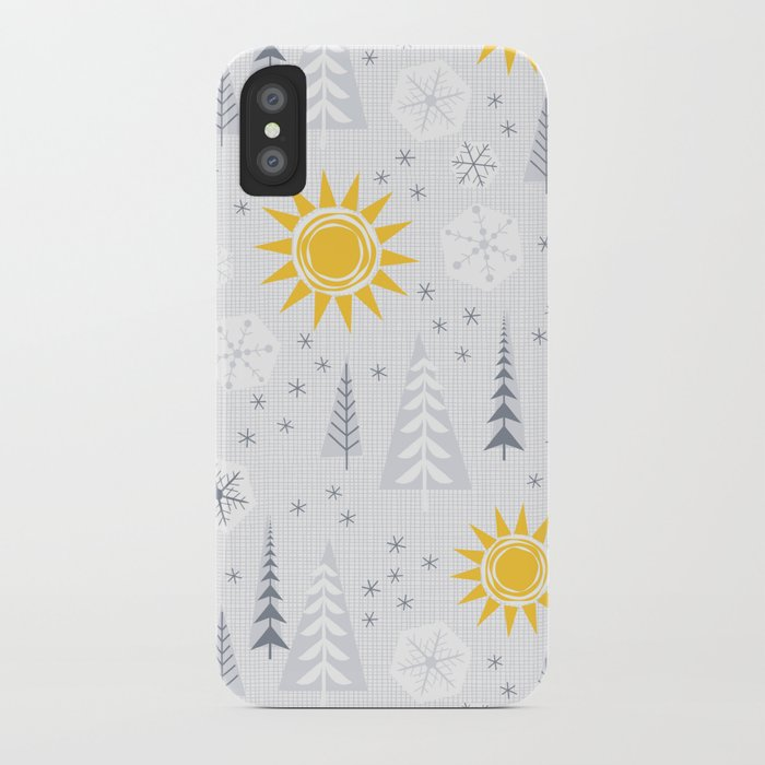 winter sunshine iphone case