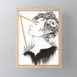 Faun Framed Mini Art Print