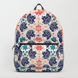 The Pysanky Easter eggs colorful pattern Backpack