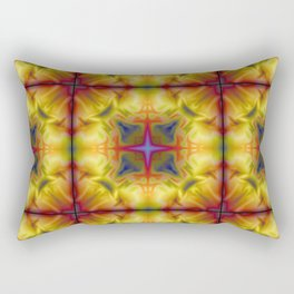 Soft drawing with colorful patterns in batik Rectangular Pillow