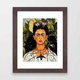 Frida Kahlo Cat Framed Art Print