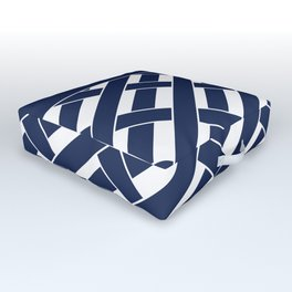 White and blue Outdoor Floor Cushion