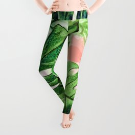 Monstera Beauty #society6 #decor #buyart Leggings