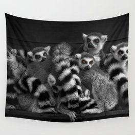 Gang Of Ring-Tailed Lemurs Wall Tapestry