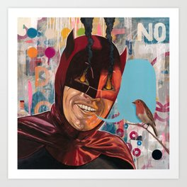 Caped Crusader by Famous When Dead Art Print