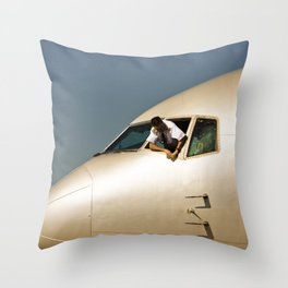 HEY! Can You Check the Oil Too? Throw Pillow