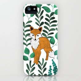 Red Foxes (White) iPhone Case