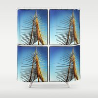 coachella Shower Curtains featuring Coachella by Wolf Feather