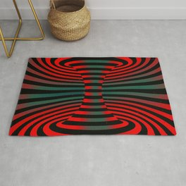 Connected channel (red-green) Rug