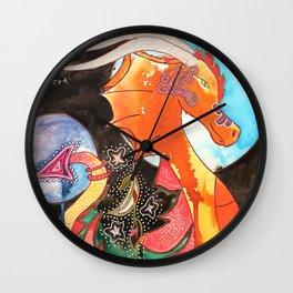 Fantastic animal - My new friend Drago - dragon - by LiliFlore Wall Clock