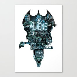 Aliens Illustration Tribute Canvas Print