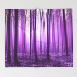 Mystical forest purple 43 Throw Blanket