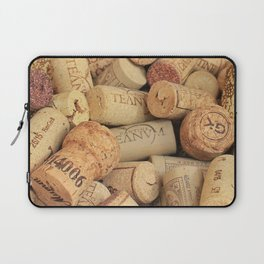 Wine Corks Pattern Design Laptop Sleeve