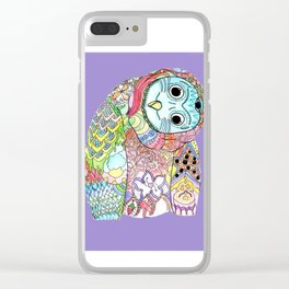 Owl Snap Back Clear iPhone Case