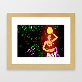 Glowing Survivor Framed Art Print