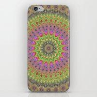 mandala iPhone & iPod Skins featuring Floral ornament mandala  by David Zydd