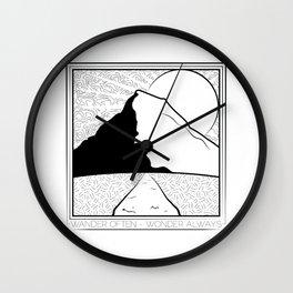 Wander Often - Wonder Always Wall Clock