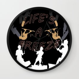 Life's A Breeze For Kitesurfers Wall Clock