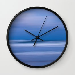 Blue Twilight on the Beach Abstract Photo Print Wall Clock