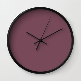 Plain Mulberry Color from SimplyDesignArt's Limited Palette  Wall Clock