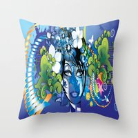 aloha Throw Pillows featuring Aloha! by Robin Curtiss