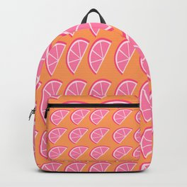tropical fruit pink citrus mango splash Backpack