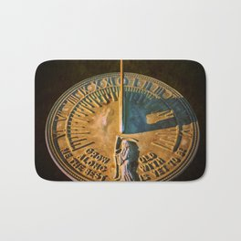 Old Father Time Sundial Bath Mat
