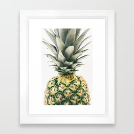Pineapple Close-Up Framed Art Print