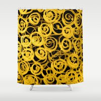 pasta Shower Curtains featuring pasta by clemm