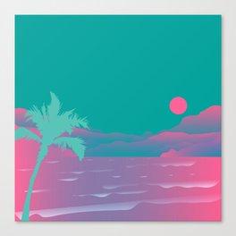 80's beach dreams Canvas Print