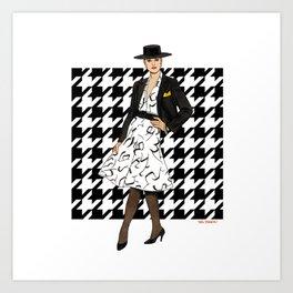 1980 Shirtwaist Dress & Short Jacket Art Print