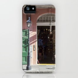 New Orleans Lampost on Royal iPhone Case