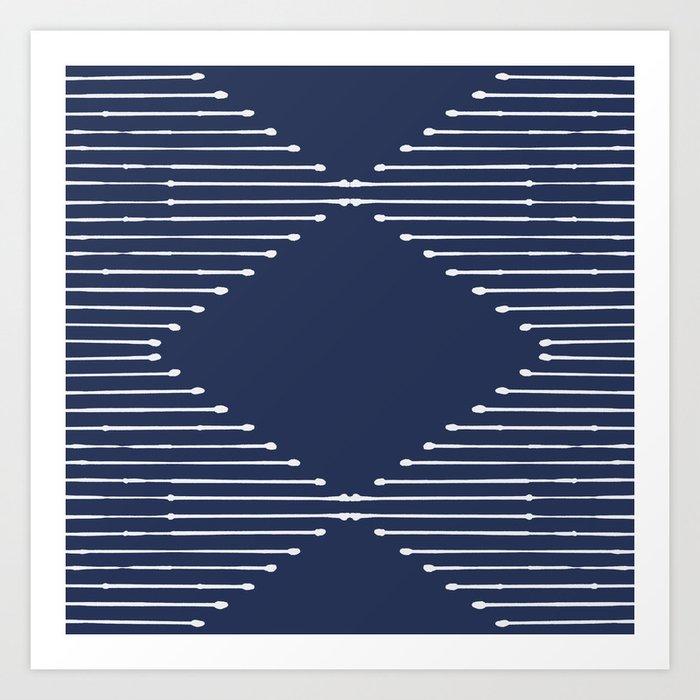 Geo (Navy) Kunstdrucke