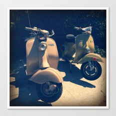 Vintage Italian Scooters Canvas Print