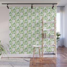 green watercolor vines Wall Mural