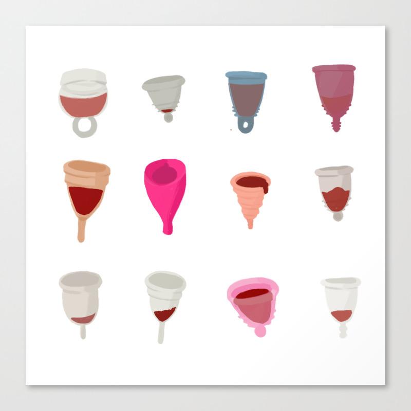 Menstrual Cups Canvas Print by Robotteeth CNV8695033