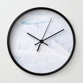 Minimalist Glacier Textures from Iceland Wall Clock