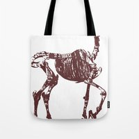 heels Tote Bags featuring Hell's heels by fabiodicampli