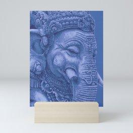 Ganesha blue Mini Art Print