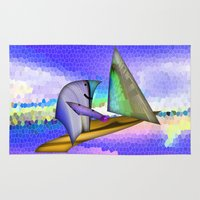 sailing Area & Throw Rugs featuring Sailing by Digital-Art