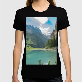 Digital Painting of a Less Popular Side of Lake Louise in Banff National Park, Alberta T-shirt